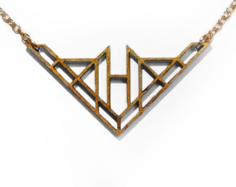 Laser Cut Wooden Necklace : #9