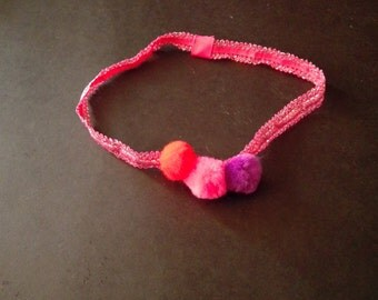 childrens pom pom headband