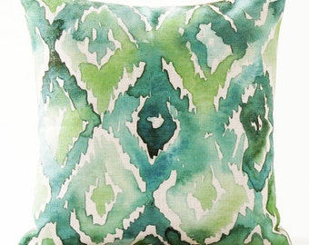 Abstract Cushion in Green