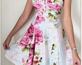 Floral bustier summer dress size Small