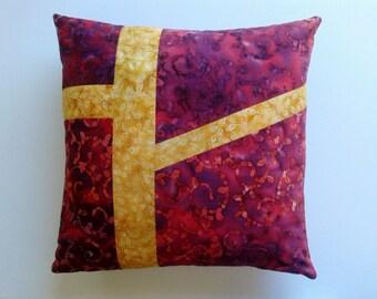 "Abstract Batik  18""sq. Pillow Cover"