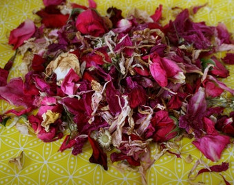Dried flowers, dry flower petals – wedding confetti. Roses, peonies - 2 cups