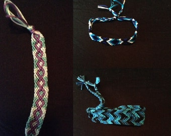 3 set of Multi- colored and Design Friendship Bracelets