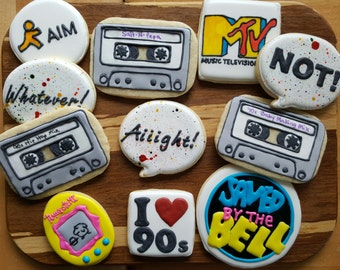 90s Themed Cookies