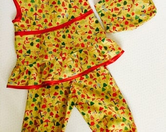 Toadstool Tots outfit age 2-3 years
