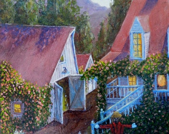 Paintings of farms, Scare Crows, Country houses, Barn paintings, Farm scenes, Paintings of farmhouses, Impressionistic, paintings of farms