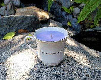 Lavender Vintage Teacup Candle - 100% Soy Wax