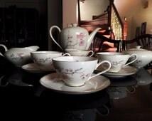 1950s Original German Rosenthal KPM Krister Porcelain Piece Tea/Coffee Set