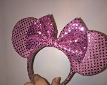 Sparkle Pink Mauve Ears