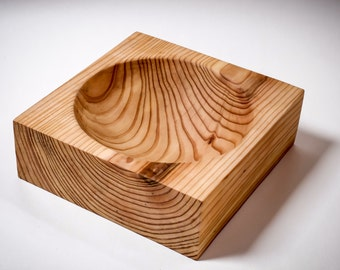 Handcrafted Wooden \ Larch plate \ exclusive design