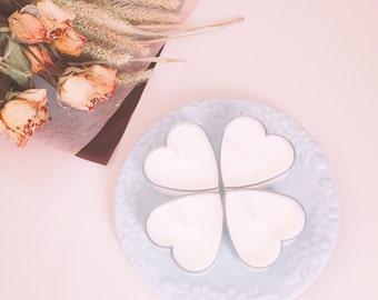 Heart Tealight candles 4ea SET (tealight)