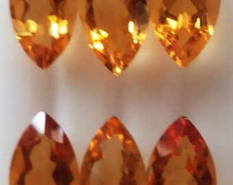 Natural AAA Citrine Marquise Gemstones.
