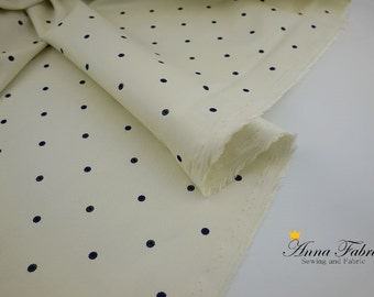 50cm | Japanese Fabric | Cotton | White fabric with blue floral