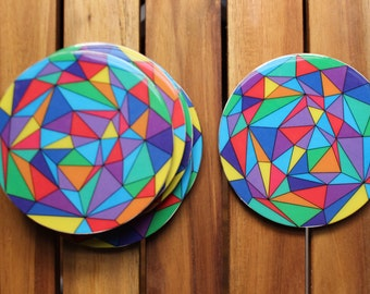 Geometric Coasters - Set of 4 - perfect housewarming gift