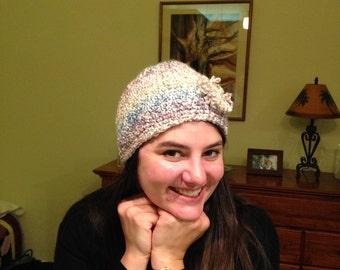 Beanie Flower Crocheted