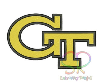 11 Size Georgia Tech Yellow Jackets Embroidery Designs College Football Logo Embroidery Design Machine Embroidery - Instant Download