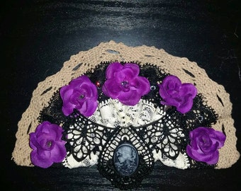 Gothic style Bridal Special Occasion hair piece