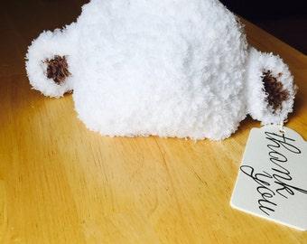 Crochet Lamb Hat/ Photo Prop