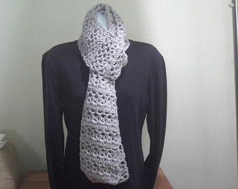 Metallic Grey Scarf