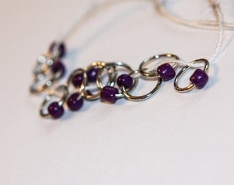 Purple Snag Free Stitch Markers (set of 10)