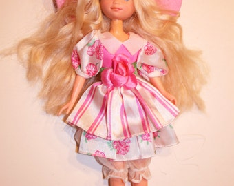 Vintage Peppermint rose doll