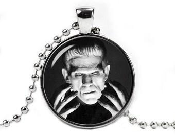 Frankenstein Necklace Pendant Horror Fandom Jewelry  Geeky Fangirl Fanboy
