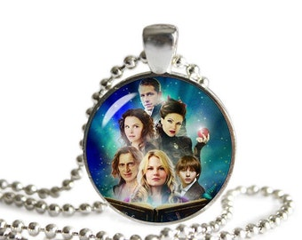 Once Upon a Time Necklace Pendant Evil Queen Regina Emma Captain Hook Rumpelstiltskin Fangirl Fanboy