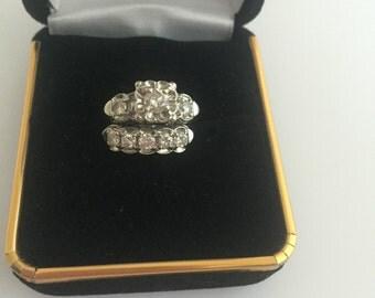 Vintage Engagement/Wedding Ring Set