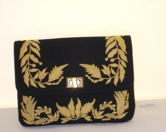 Gold Black Bag