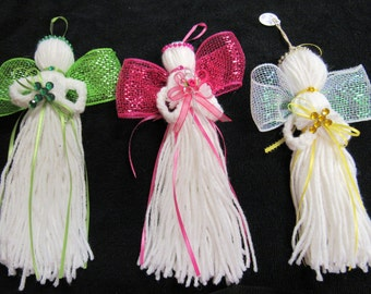 Colorful Yarn Angels