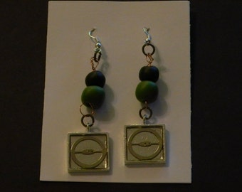 """Steampunk Jewelry - """"Times Square"""" - earrings - artist The Ol' Codger"""