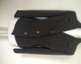 """Vintage """"Dellbury"""" Ladies Jacket in Brown Polyester 1970s UK10"""