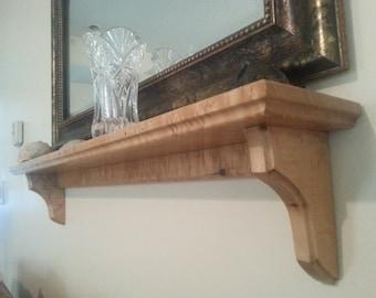 Shelf made from solid birdseye maple