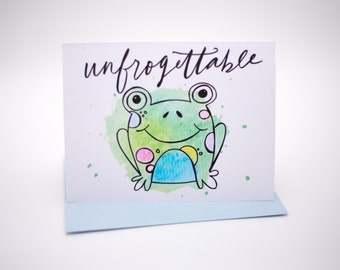 Unfrogettable - Greeting Card