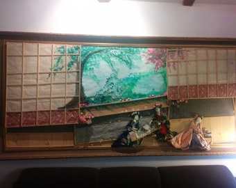 Woman creation, Unique Japanese paint, one of a kind work of art,