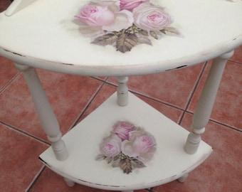 Beautiful corner table, decoupage, chalk paint