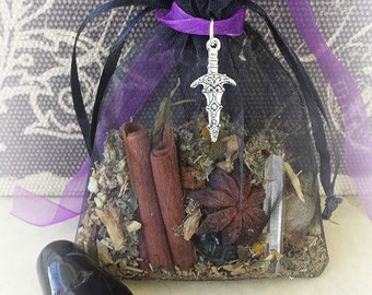 Protection Mojo Bag, Protection Amulet Bag, Protection Spell, Herbal Bag, Gris Gris Bag, Sachet Bag, Witchcraft Supplies, Wicca Charm Bag