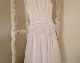 Simple Elegant 1950s Wedding Bridemaid Prom Evening Dress