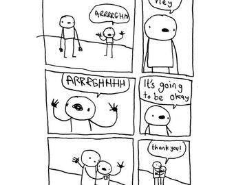 Hug! (It's going to be okay part 2) - Print
