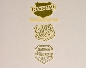 National Duolian Resophonic Guitar Gold Foil Waterslide guitar Headstock Logo