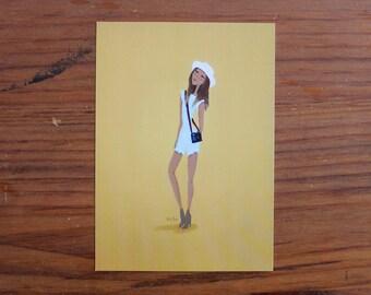 Camera Girl - 5 x 7 Print