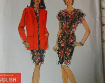 Simplicity 9705 Pattern Vintage cardigan and dress