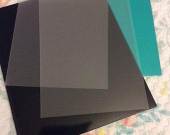 Planner Plastic Velvet Matte Clear