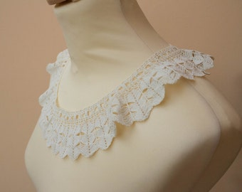 Crochet Cotton Lace Collar, Sewing, Crafts