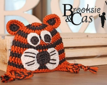 The Tiger Handmade Crochet Infant Toddler Child Teen Adult Hat