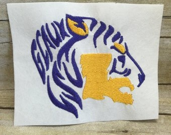 Lsu Embroidery Design, Geaux Tigers Embroidery Design, Lsu Tigers Embroidery Design