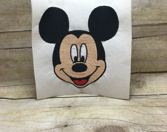 Mickey Mouse Embroidery Design, Mickey Mouse Head Embroidery Design