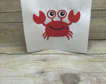 Crab Embroidery Design, Beach Crab Embroidery Design