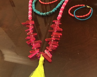 Layer after Layer Neon Necklace Set