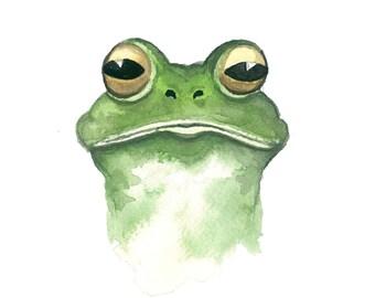 Sir Frog Watercolor Print